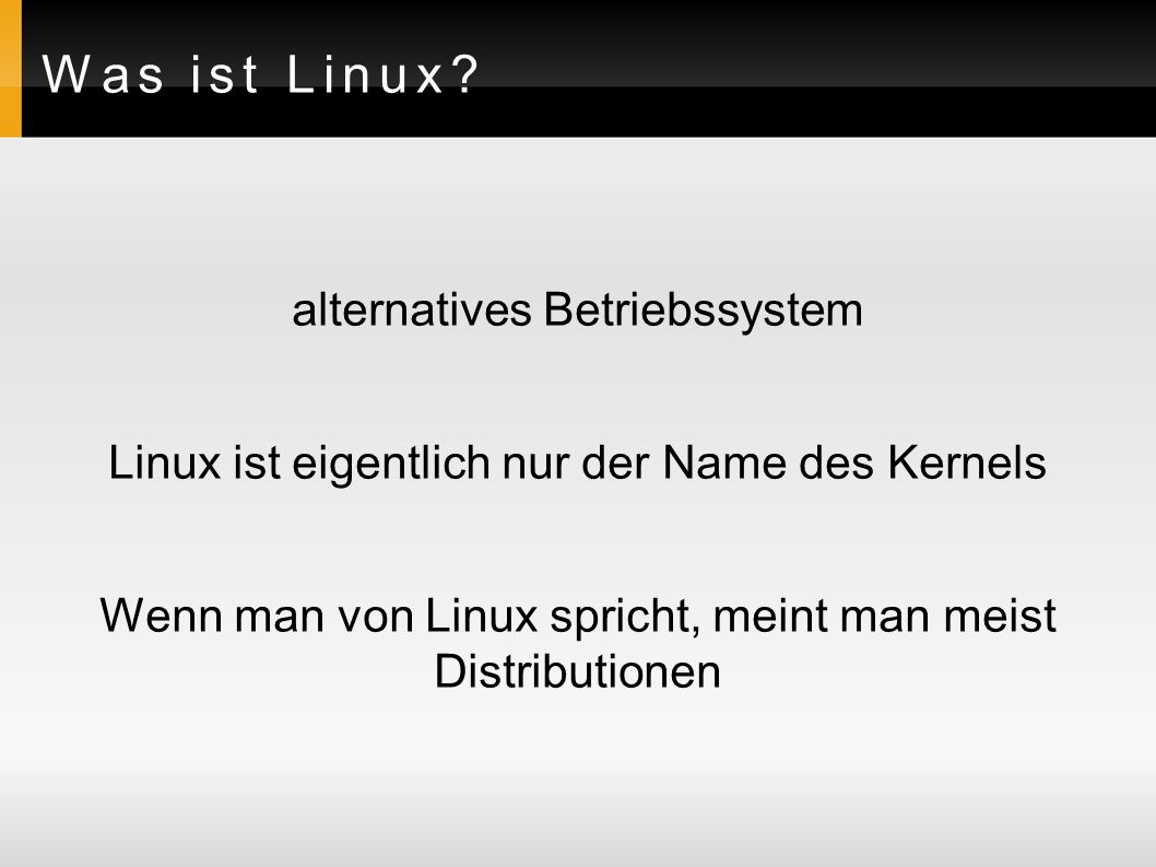 Was ist Linux.