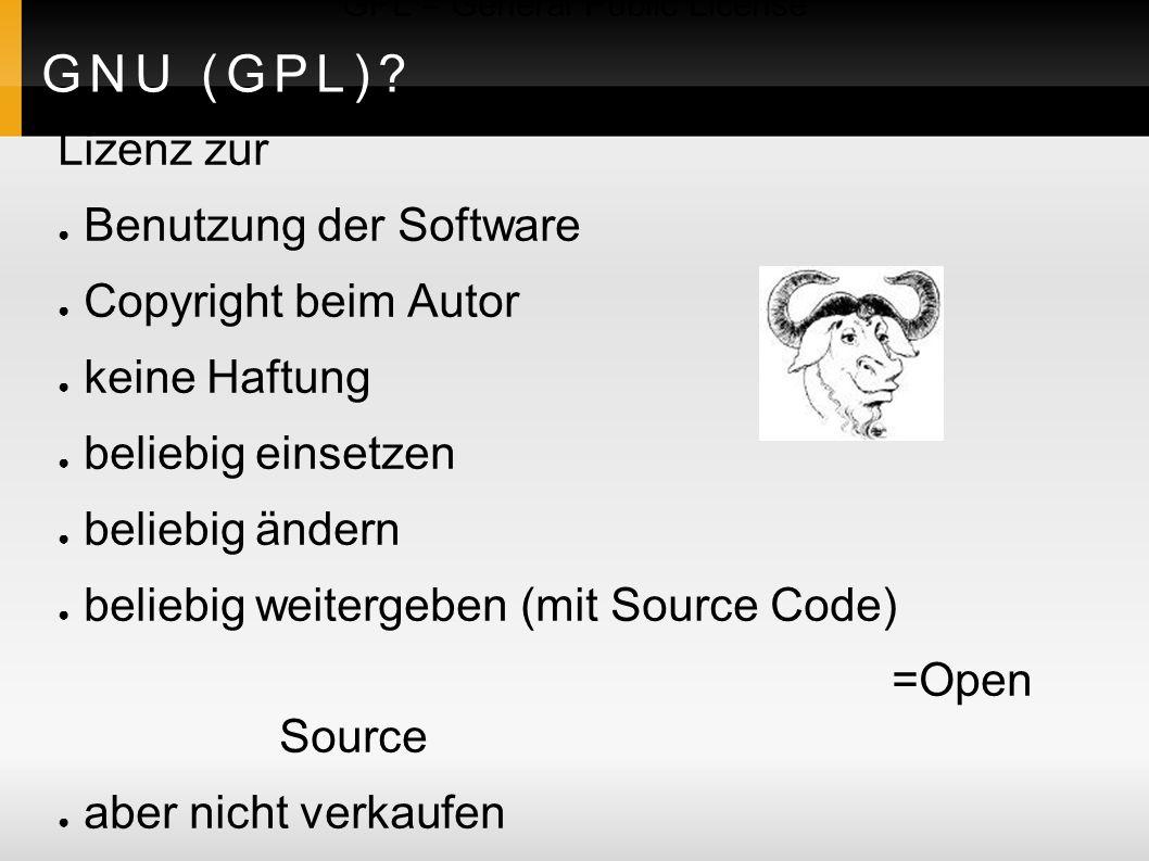 GNU (GPL).