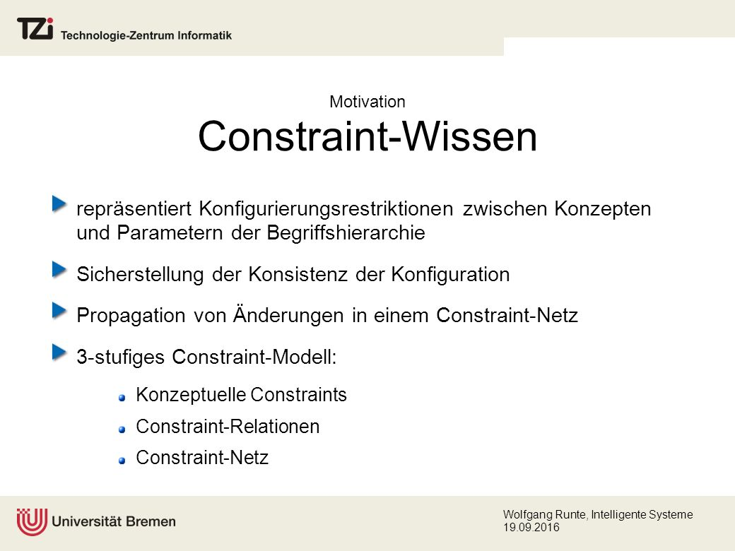 Wolfgang Runte, Intelligente Systeme 19.09.2016 Diskussion
