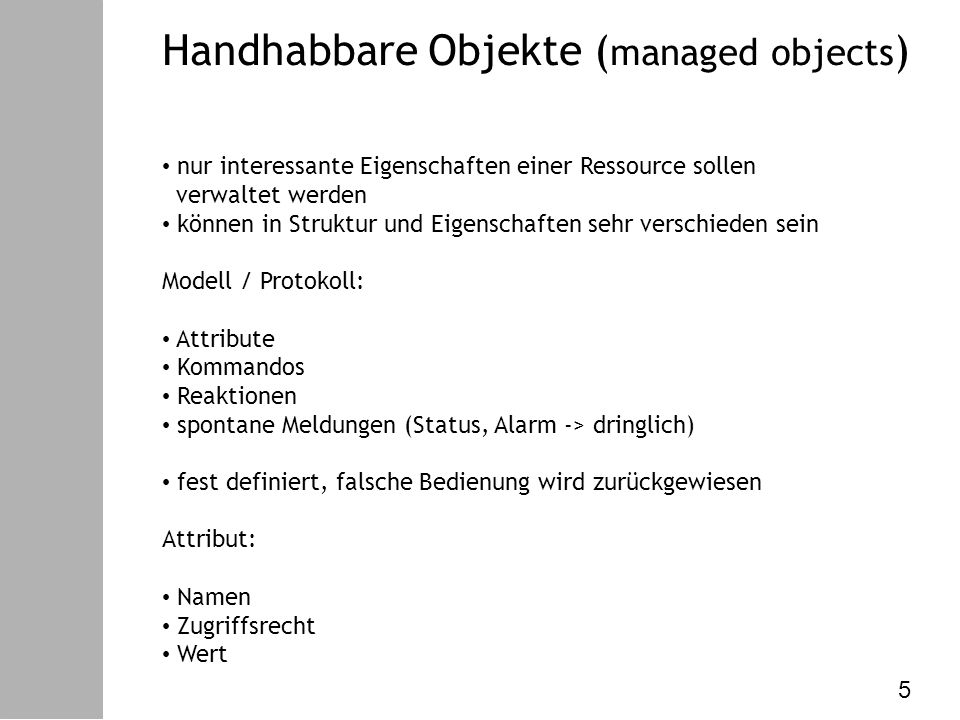 Datenkommunikation – VI.Netzw. Management PDUs bzw.
