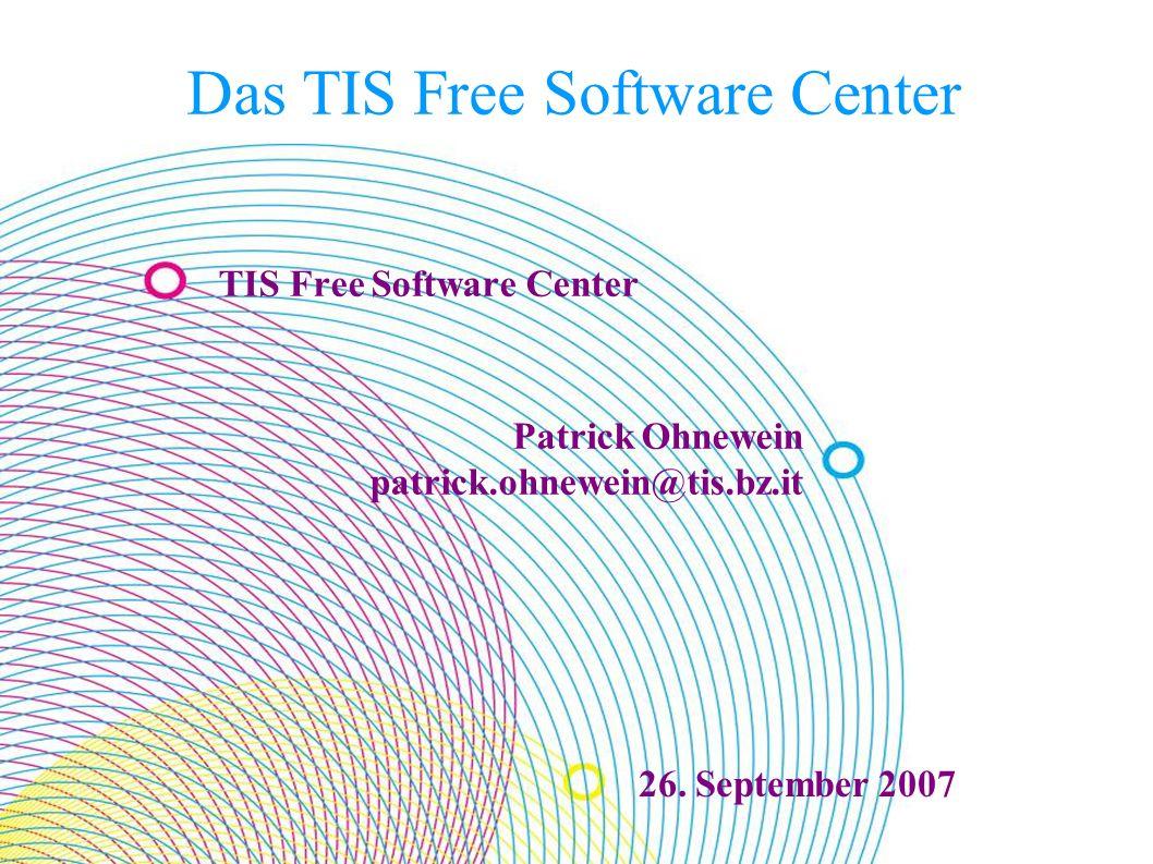 TIS Free Software Center19.09.2016 22 Danke für Ihre Aufmerksamkeit.