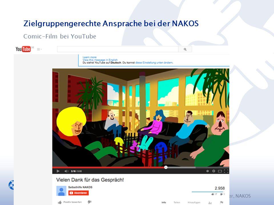 Zielgruppengerechte Ansprache bei der NAKOS Comic-Film bei YouTube M. Walther, NAKOS