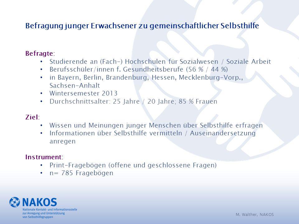 Befragte: Studierende an (Fach-) Hochschulen für Sozialwesen / Soziale Arbeit Berufsschüler/innen f.