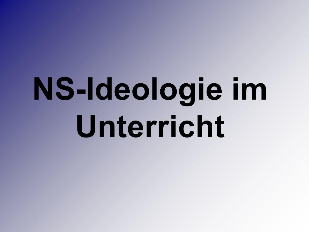 NS-Ideologie im Unterricht