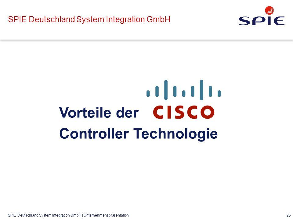 SPIE Deutschland System Integration GmbH | Unternehmenspräsentation 25 SPIE Deutschland System Integration GmbH Vorteile der Controller Technologie
