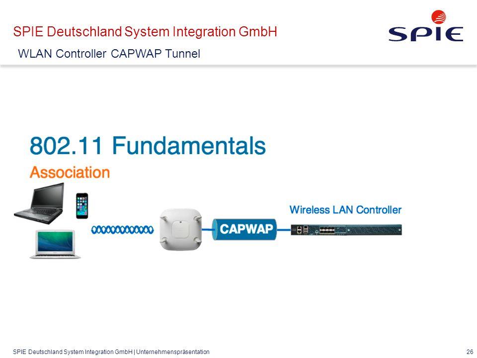 SPIE Deutschland System Integration GmbH | Unternehmenspräsentation 26 SPIE Deutschland System Integration GmbH WLAN Controller CAPWAP Tunnel