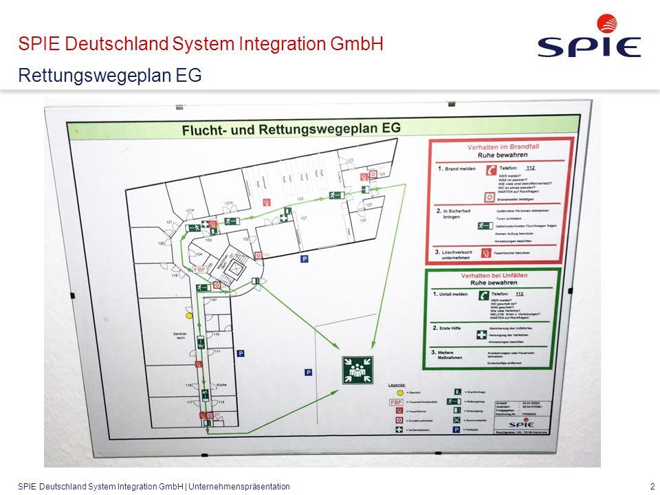 SPIE Deutschland System Integration GmbH | Unternehmenspräsentation 2 SPIE Deutschland System Integration GmbH Rettungswegeplan EG