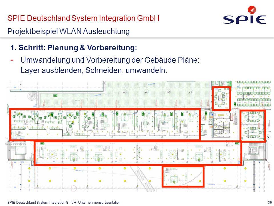SPIE Deutschland System Integration GmbH | Unternehmenspräsentation 39 1.