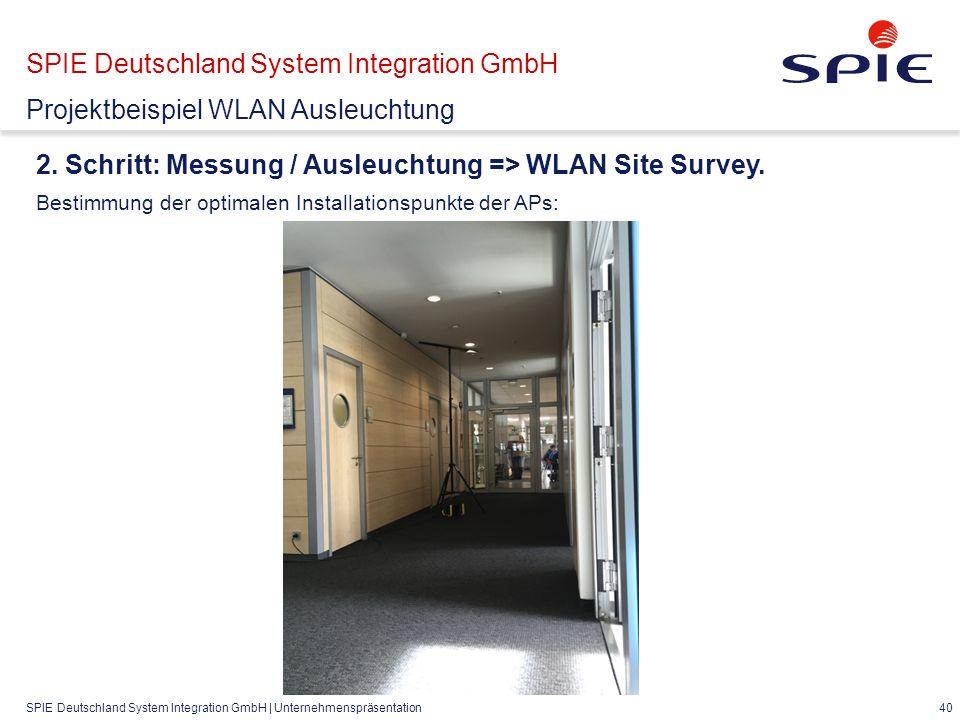 SPIE Deutschland System Integration GmbH | Unternehmenspräsentation 40 2.