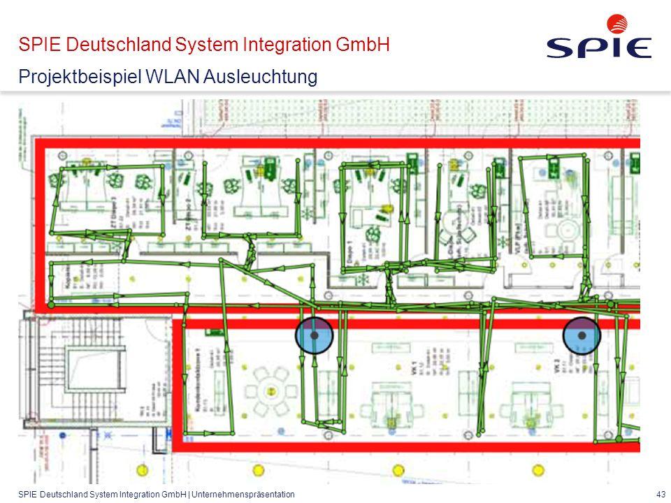SPIE Deutschland System Integration GmbH | Unternehmenspräsentation 43 SPIE Deutschland System Integration GmbH Projektbeispiel WLAN Ausleuchtung