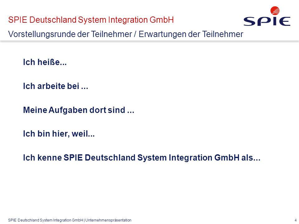 SPIE Deutschland System Integration GmbH | Unternehmenspräsentation 4 Ich heiße...