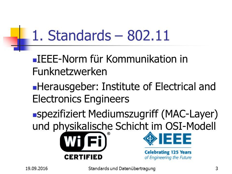 19.09.2016 Standards und Datenübertragung 3 1.
