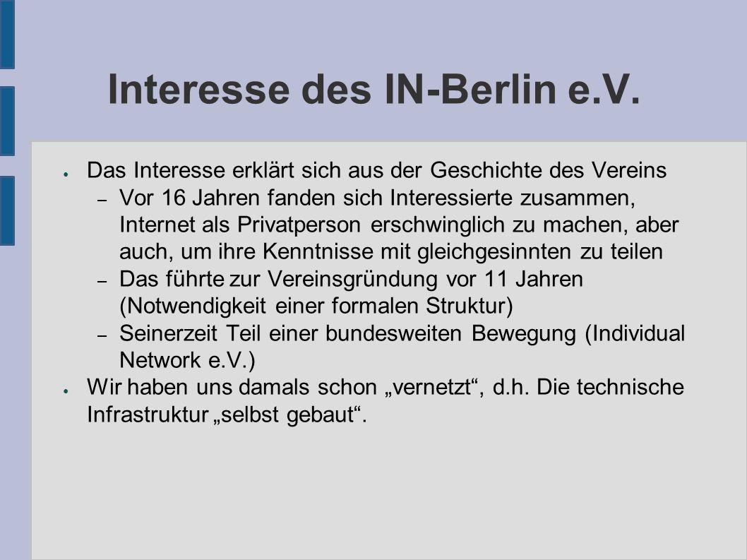 Interesse des IN-Berlin e.V.