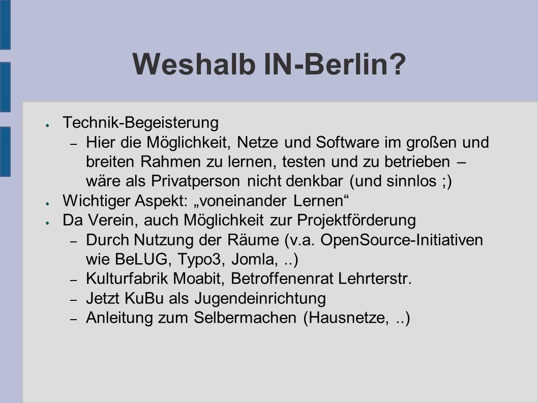 Weshalb IN-Berlin.