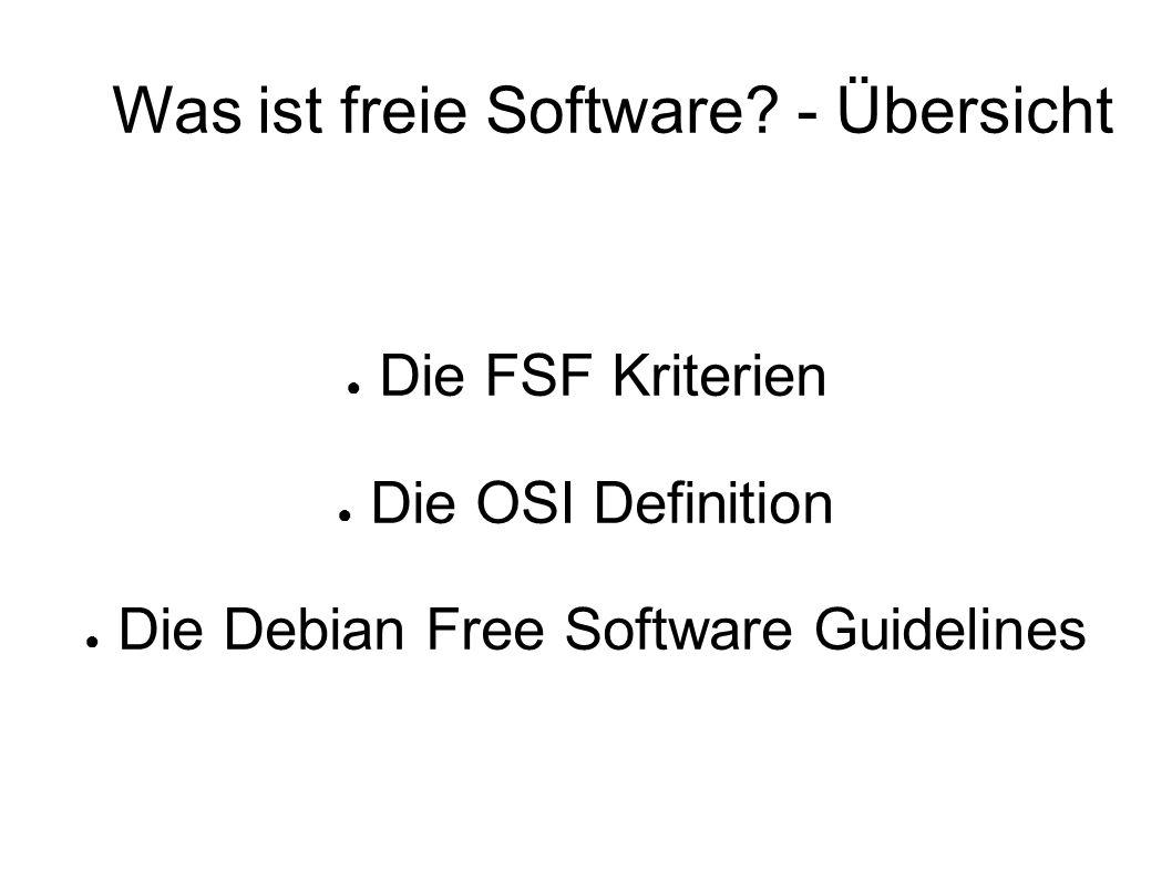 Was ist freie Software.