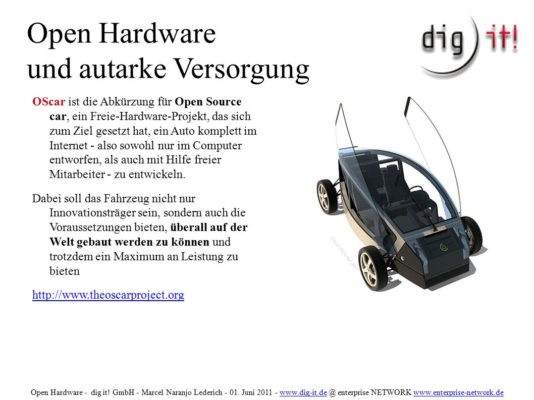 Open Hardware und autarke Versorgung The Open Prosthetics Project is producing useful innovations in the field of prosthetics and freely sharing the designs.