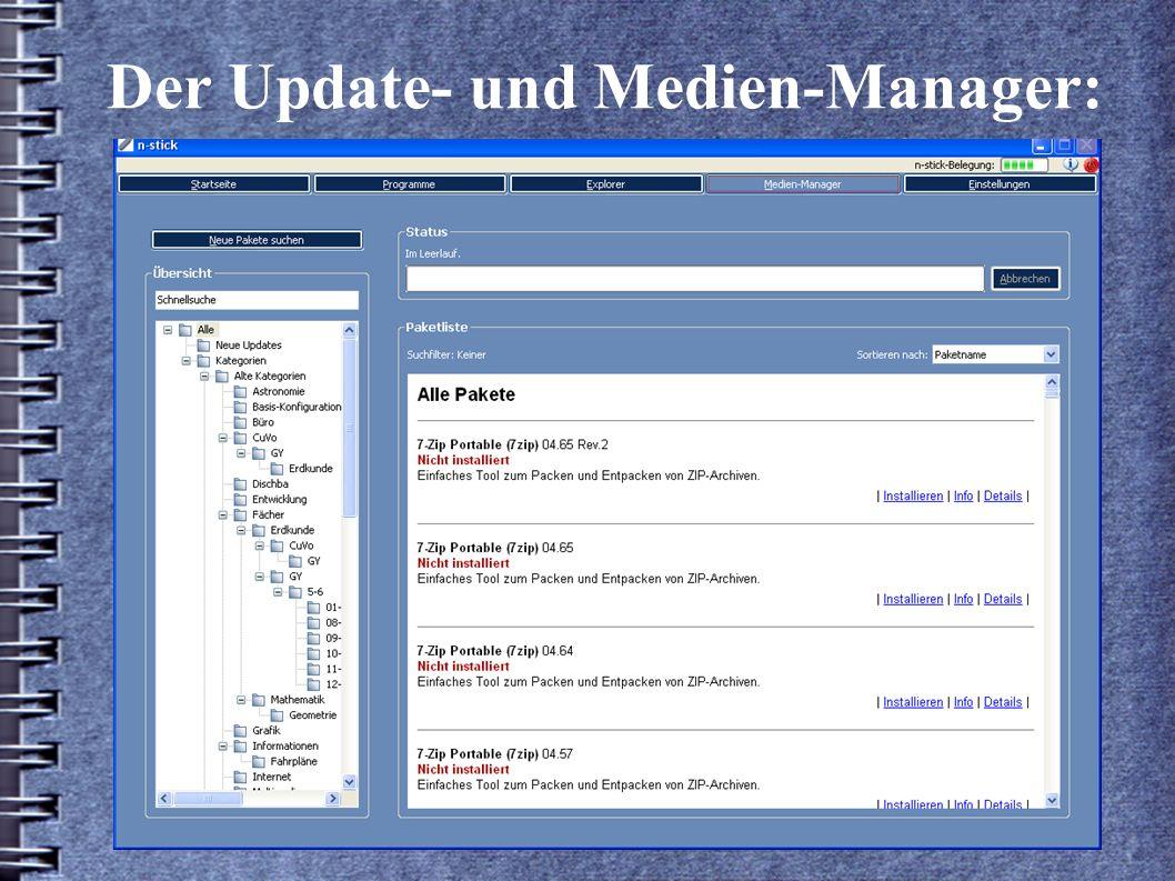 Der Update- und Medien-Manager: