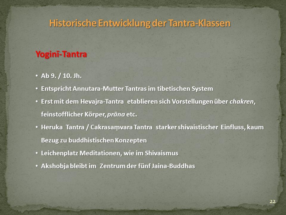 22 Yoginī-Tantra Ab 9. / 10. Jh. Ab 9. / 10. Jh.