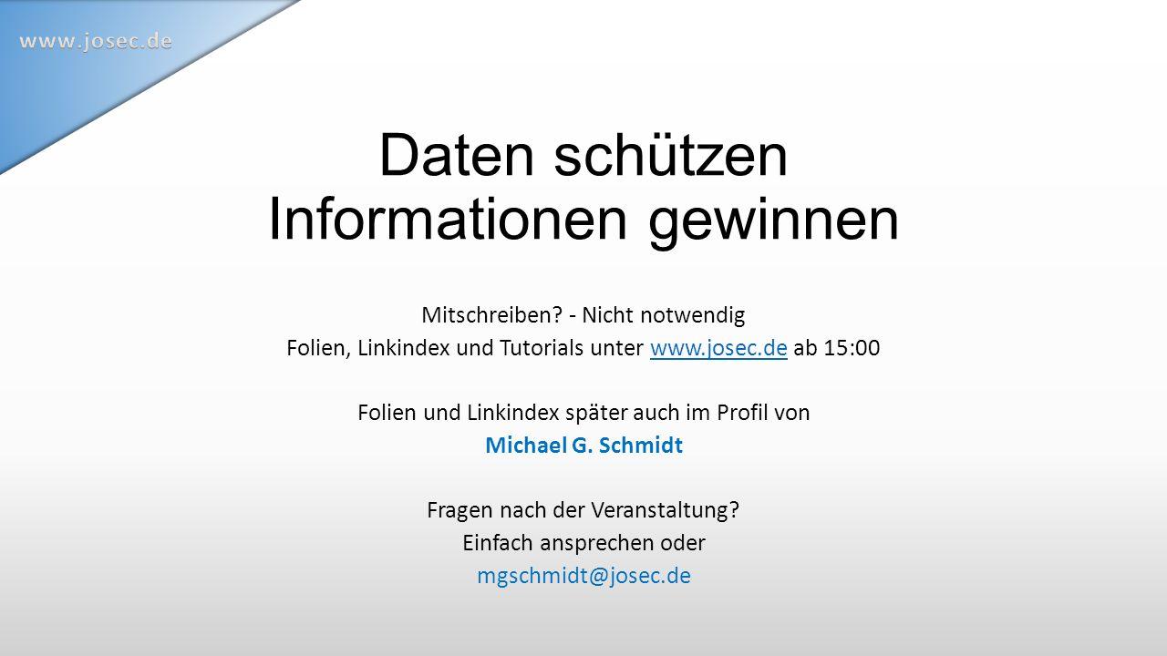 Linkindex http://www.josec.de http://pwgen-win.sourceforge.net/ http://keepass.info/ https://www.keepassx.org/ http://hannes-schurig.de/08/10/2014/dart-2-0-digital-advanced-response-toolkit-eine-forensik-und-analyse-toolsammlung/ http://www.itrig.de/index.php?/archives/1868-Digitale-Forensik-DEFT-8.1-und-DART-2-2014-veroeffentlicht.html http://www.cgsecurity.org/wiki/PhotoRec_DE http://www.dban.org/ https://partedmagic.com/ http://www.blancco.com/de http://www.heise.de/download/truecrypt-2cebe13969f4b9d1e6c46474410cfee9-1465297216-2625104.html https://www.mozilla.org/de/thunderbird/ https://addons.mozilla.org/de/thunderbird/addon/enigmail/ https://www.gpg4win.de/ https://web.de/ https://www.gmx.net/ https://tutanota.com/de/ http://www.readnotify.com/ http://slideme.org/application/stealth-recorder-pro-0