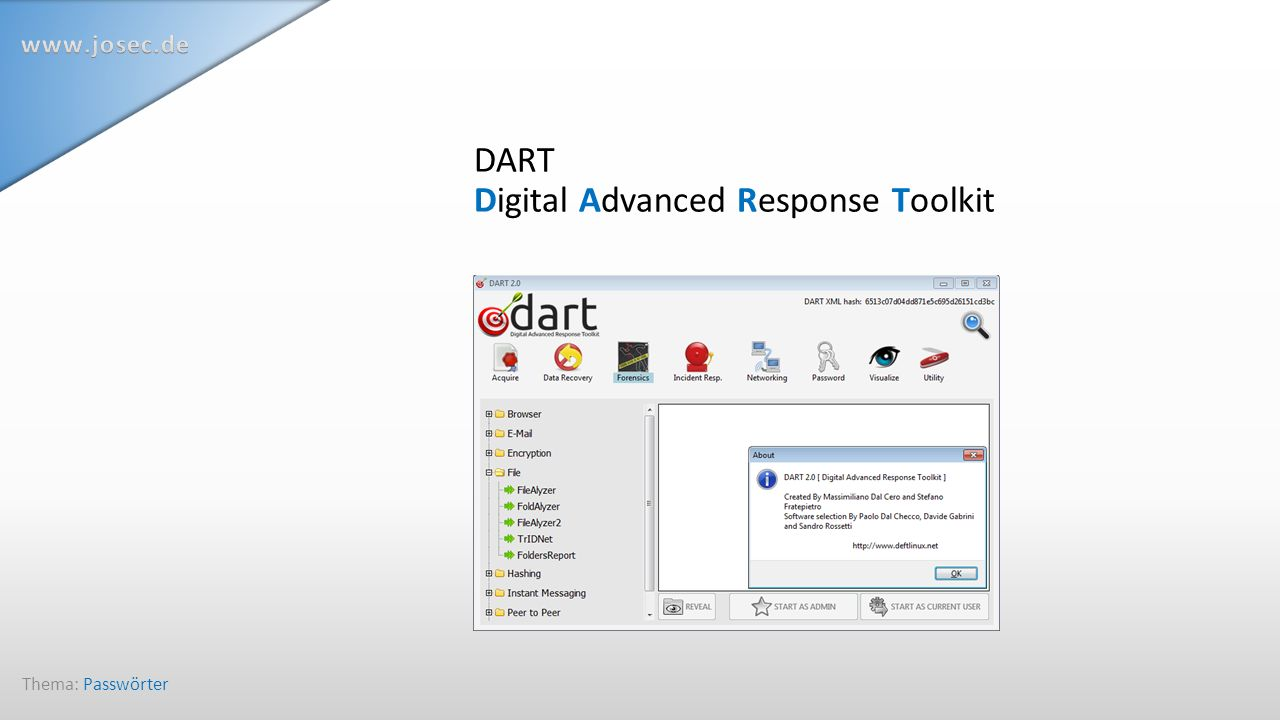 DART Digital Advanced Response Toolkit Thema: Passwörter