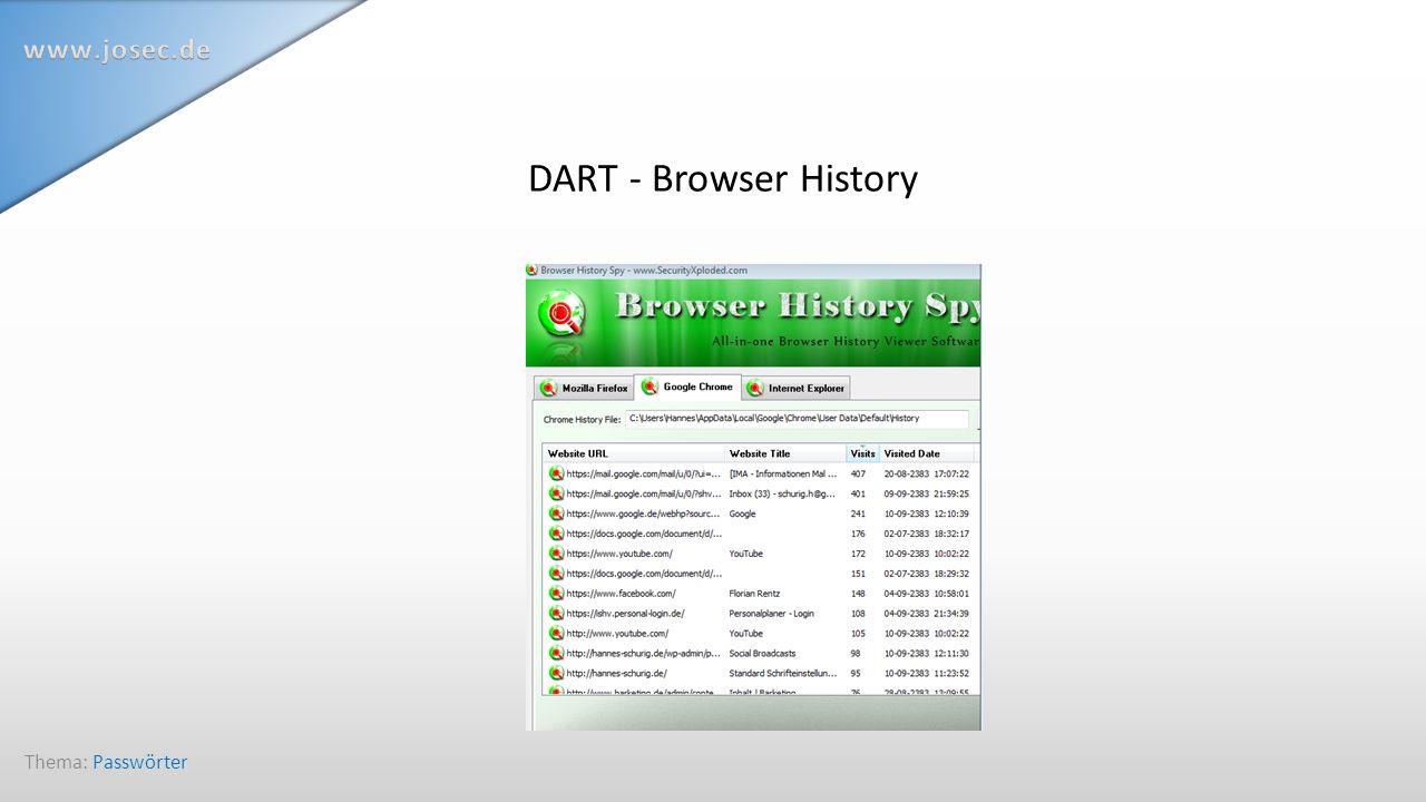 DART - Browser History Thema: Passwörter