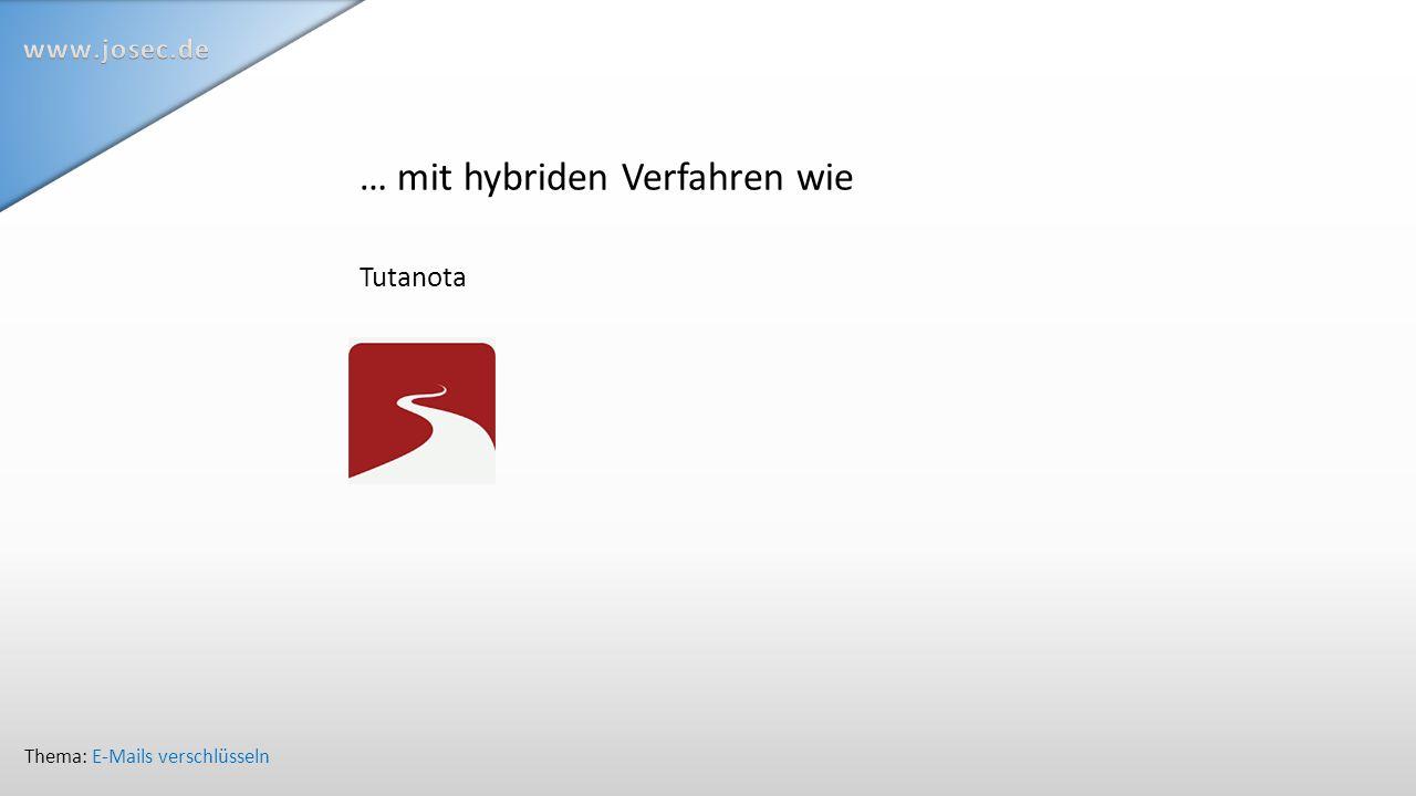 … mit hybriden Verfahren wie Tutanota Thema: E-Mails verschlüsseln