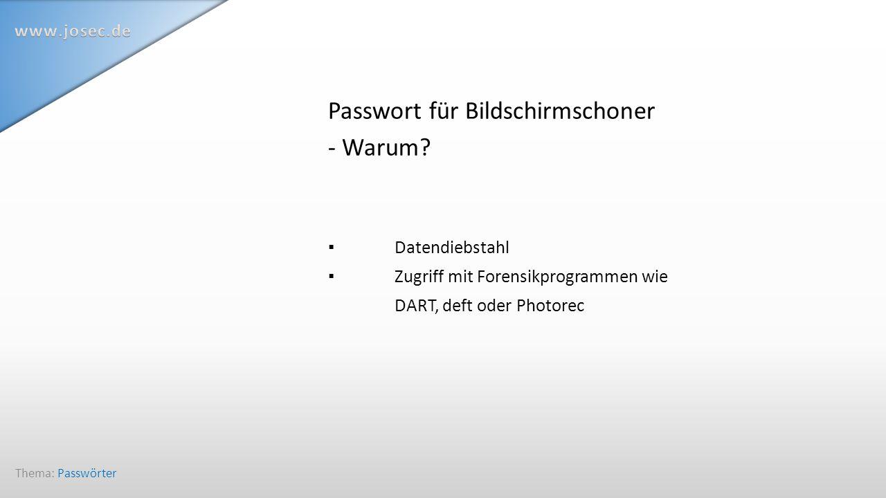 """Daten """"richtig löschen BSI empfiehlt DBAN Parted Magic Thema: Passwörter"""
