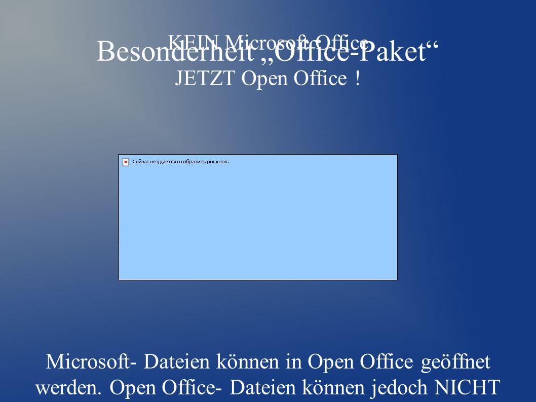 "Besonderheit ""Office-Paket KEIN Microsoft Office JETZT Open Office ."