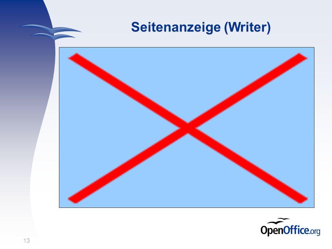 13 Seitenanzeige (Writer)