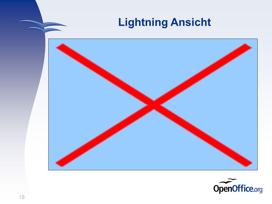 19 Lightning Ansicht