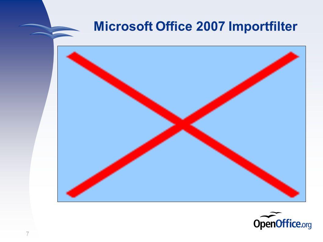 7 Microsoft Office 2007 Importfilter