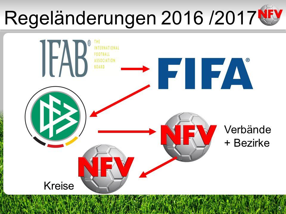 6 Regeländerungen 2016 /2017 Das International Football Association Board (IFAB) oder kurz International Board ist ein internationales Gremium, das Änderungen der Fußballregeln berät und beschließt.