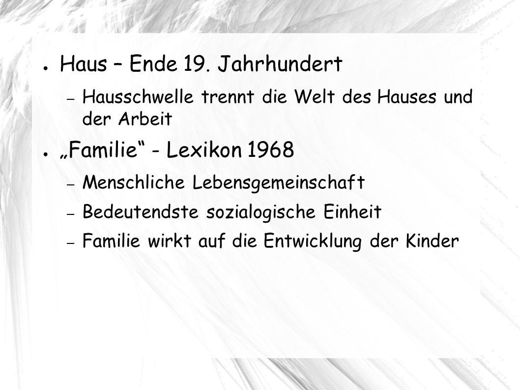 ● Haus – Ende 19.