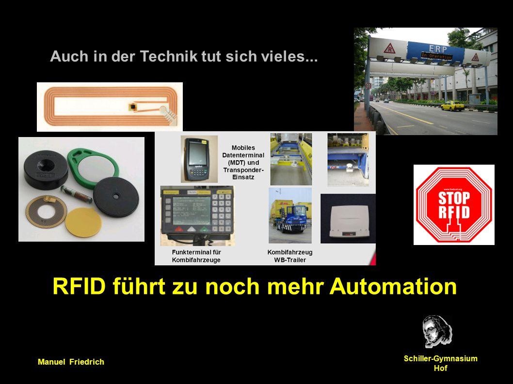 Manuel Friedrich Schiller-Gymnasium Hof Auch in der Technik tut sich vieles...