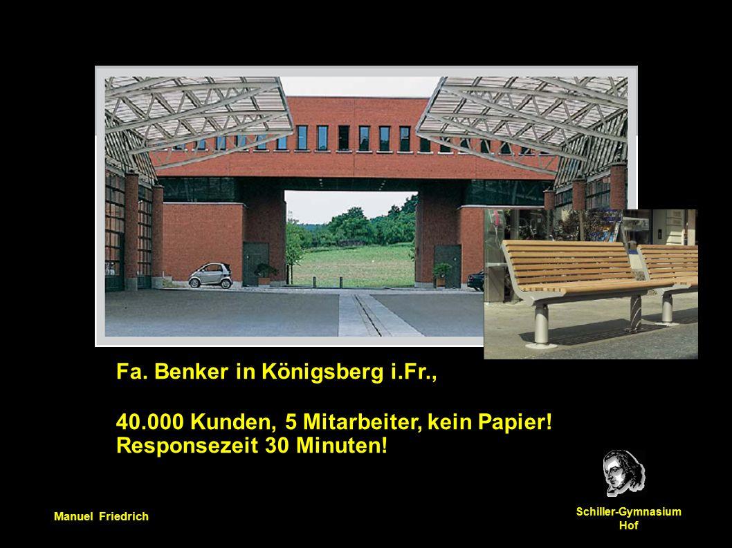 Manuel Friedrich Schiller-Gymnasium Hof Fa.