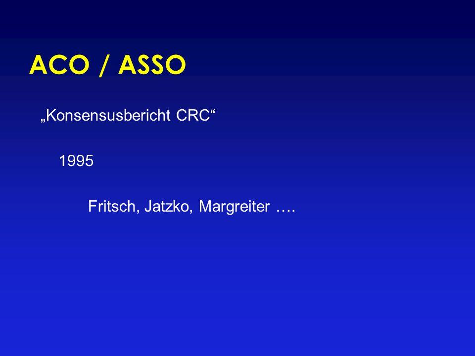 """""""Konsensusbericht CRC"""" 1995 Fritsch, Jatzko, Margreiter …."""
