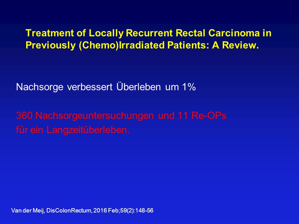 Treatment of Locally Recurrent Rectal Carcinoma in Previously (Chemo)Irradiated Patients: A Review.