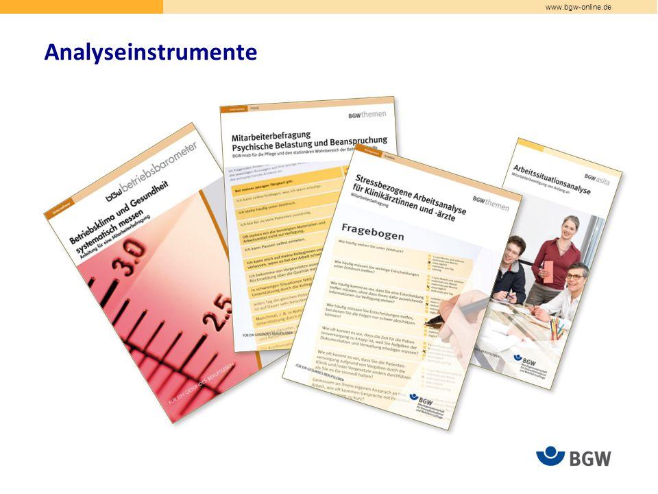 www.bgw-online.de Analyseinstrumente