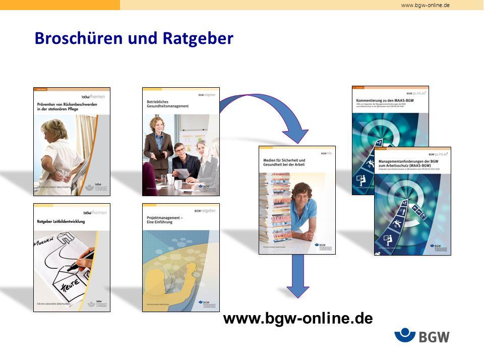 www.bgw-online.de Broschüren und Ratgeber www.bgw-online.de