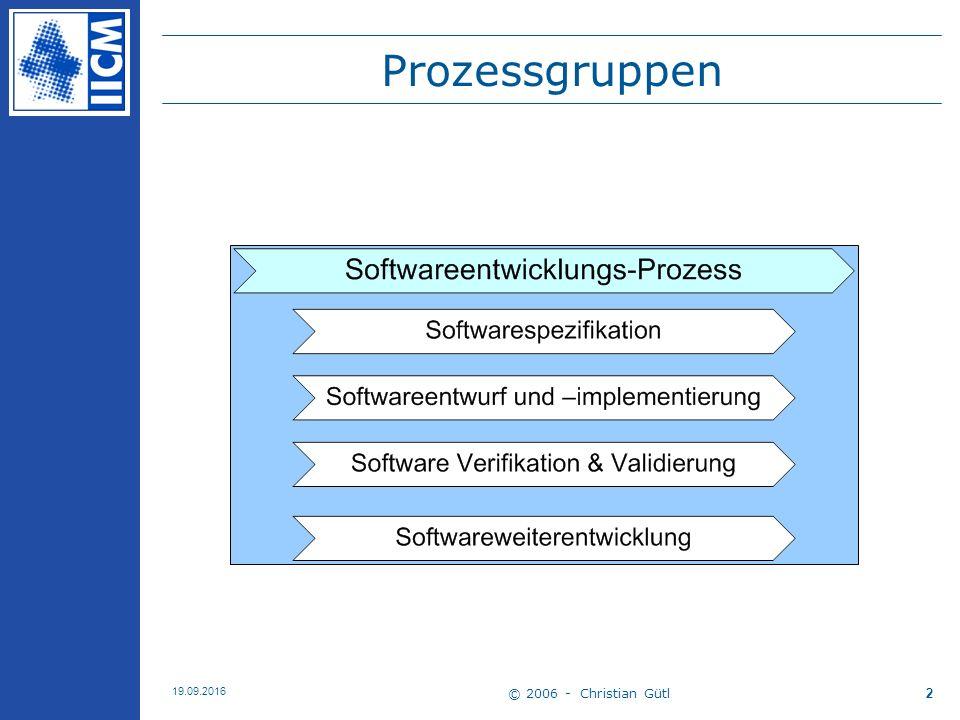 © 2006 - Christian Gütl 19.09.2016 2 Prozessgruppen