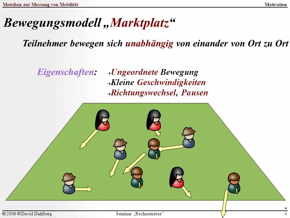 """Seminar """"Rechnernetze Metriken zur Messung von Mobilität 4 2006David Dahlberg Motivation."""