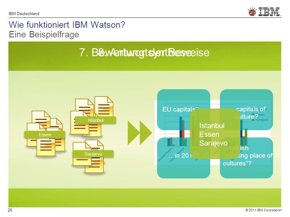 © 2011 IBM Corporation IBM Deutschland 20 7. Bewertung der Beweise8.