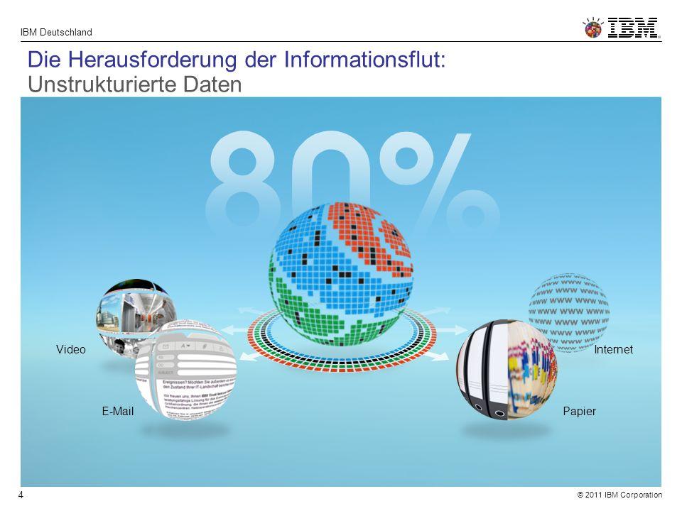 © 2011 IBM Corporation IBM Deutschland 5 Was wäre, wenn ein Sys- tem nicht nur Zugriff auf alle Informationen hätte, sondern auch Antworten auf unsere Fragen geben könnte.