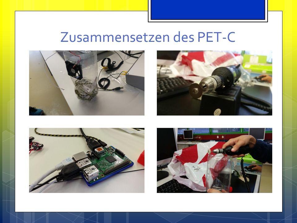 Höhenflug § Wir liessen den PET-C fliegen mit einem Quadrocopter Die Pi Camera machte dann selbständig einige Bilder