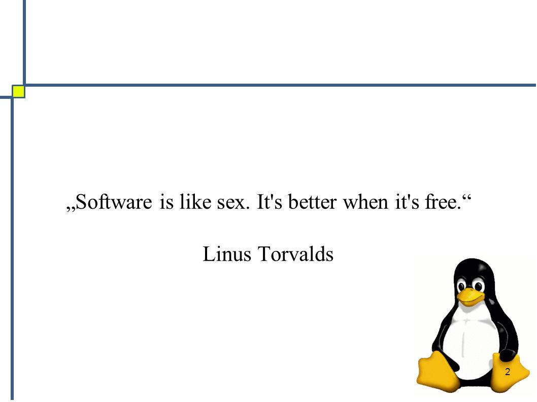3 Gliederung ● Vorstellung der Kursleiter ● Freie Software – Geschichte – GNU – Linux – Distributionen ● Nicht technische Aspekte – Social Software – Freies Wissen