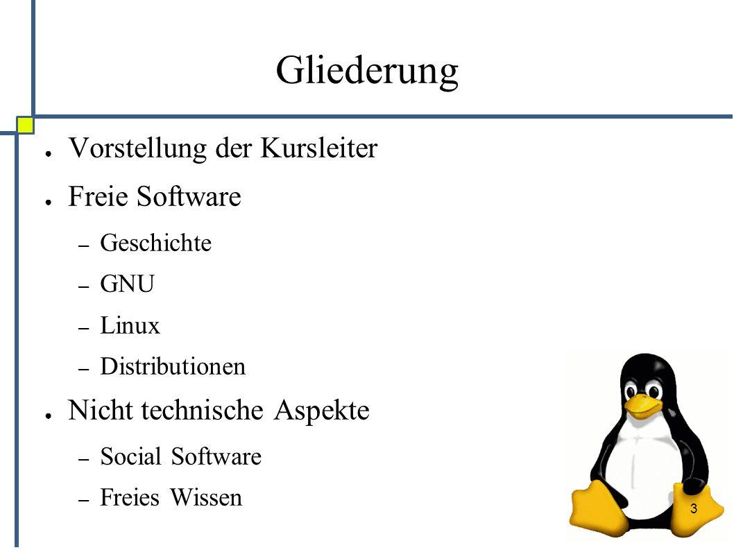 14 Vorstellung: Debian ● Erste wirklich freie Distribution ● Serverdistribution – sehr stabil – 3 Varianten stable, testing und unstable – Zielgruppe: Entwickler ● Grundstock für viele andere Distributionen ● Wird von einer Organisation betrieben – Circa 500 Maintainer