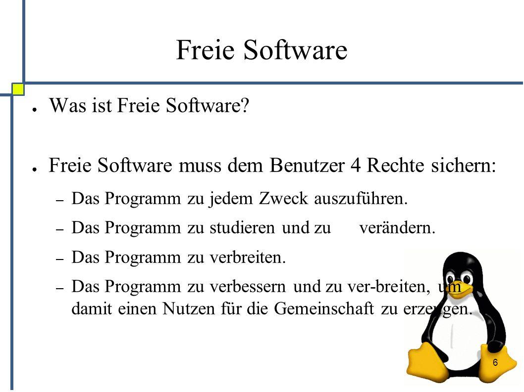 6 Freie Software ● Was ist Freie Software.