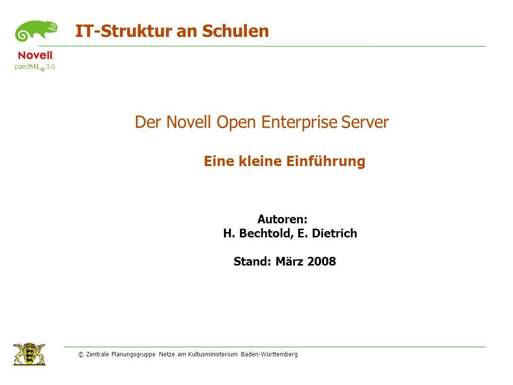 IT-Struktur an Schulen Eine kleine Einführung Autoren: H.