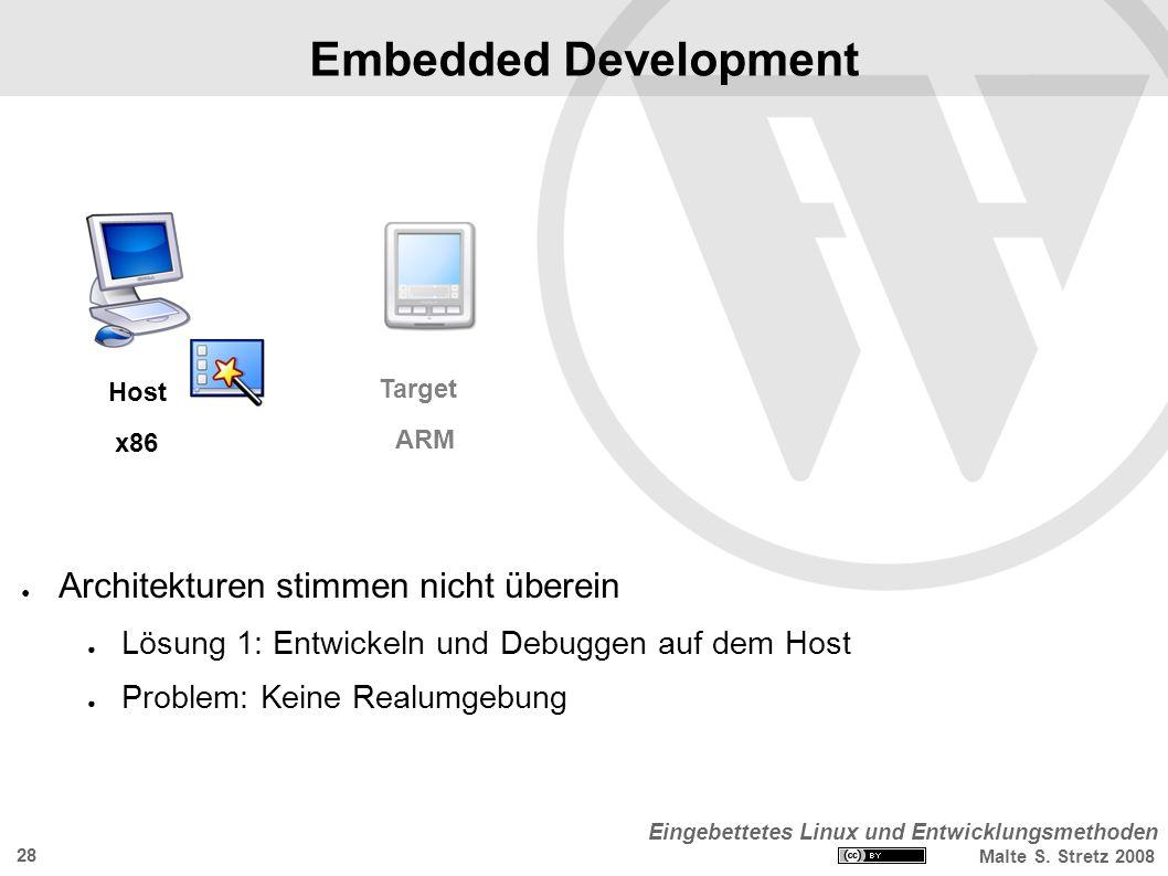 Eingebettetes Linux und Entwicklungsmethoden Malte S.