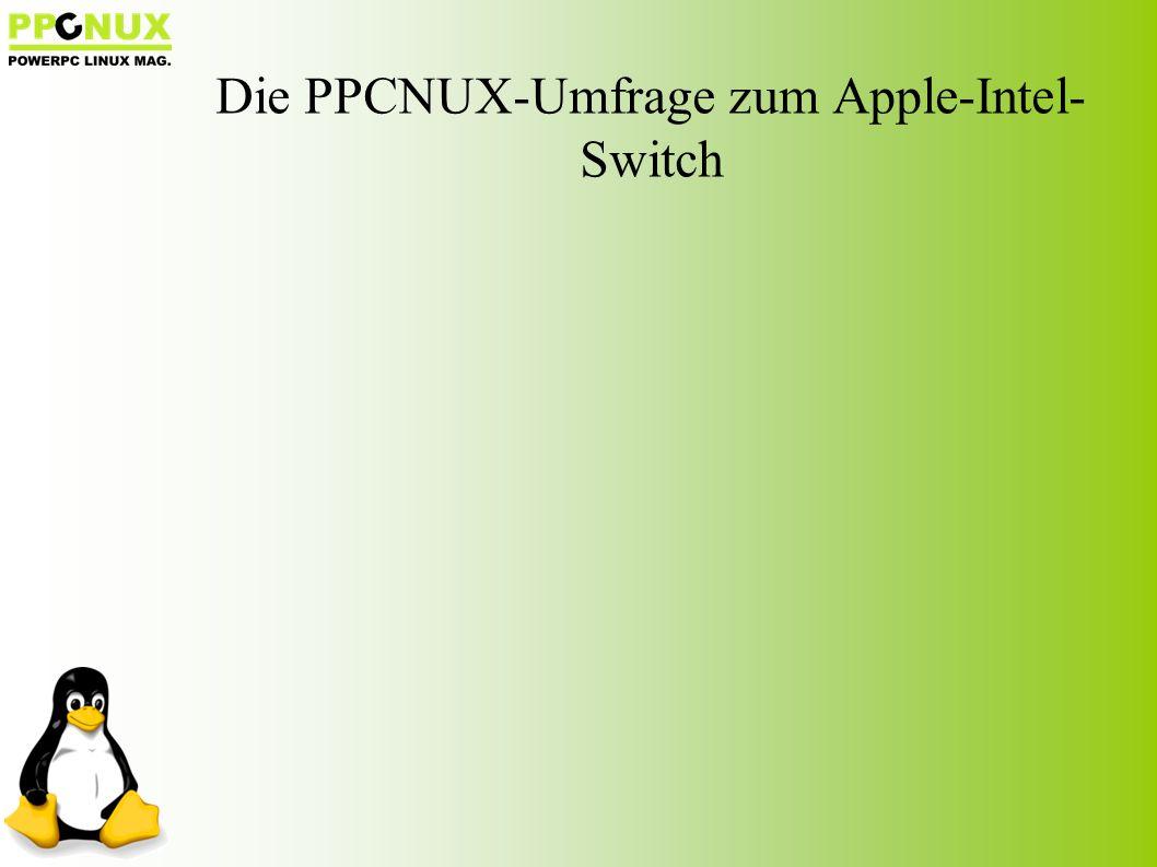Die PPCNUX-Umfrage zum Apple-Intel- Switch